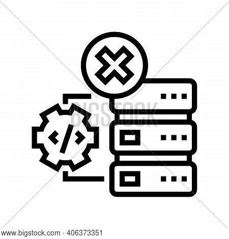 Debugging Servers Line Icon Vector. Debugging Servers Sign. Isolated Contour Symbol Black Illustrati