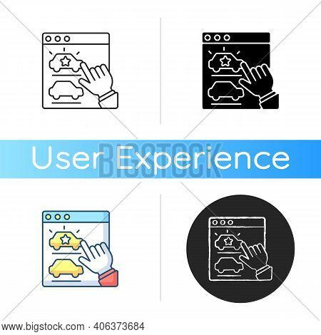 Desirable Icon. Pleasing Brand Product. Customer Interest And Satisfaction. Online User Experience.
