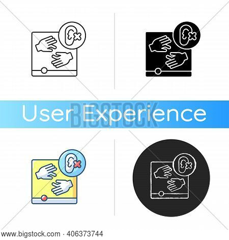 Accessibility Icon. Website Optimization Guidelines For Disabled People. Online Site Development. Sp