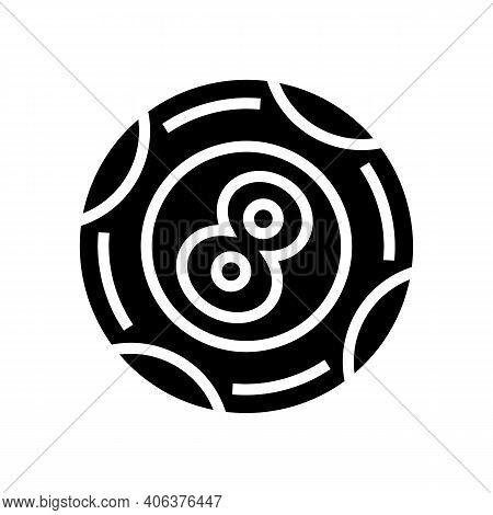Ball Lotto Glyph Icon Vector. Ball Lotto Sign. Isolated Contour Symbol Black Illustration