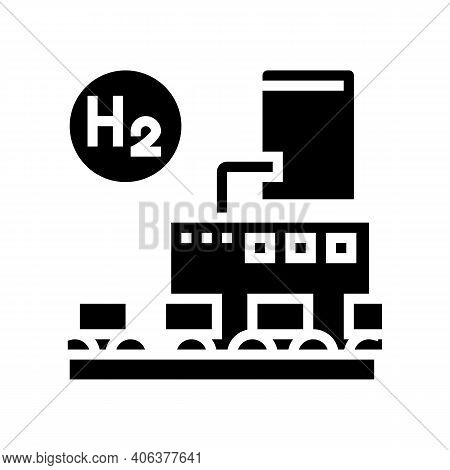 Use In Food Industry Hydrogen Glyph Icon Vector. Use In Food Industry Hydrogen Sign. Isolated Contou