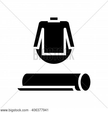 Clothing Textile Fabric Glyph Icon Vector. Clothing Textile Fabric Sign. Isolated Contour Symbol Bla