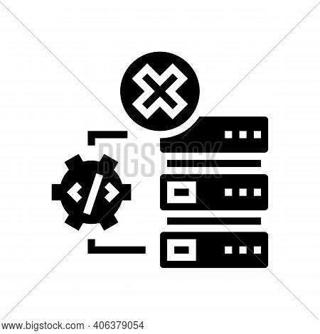 Debugging Servers Glyph Icon Vector. Debugging Servers Sign. Isolated Contour Symbol Black Illustrat