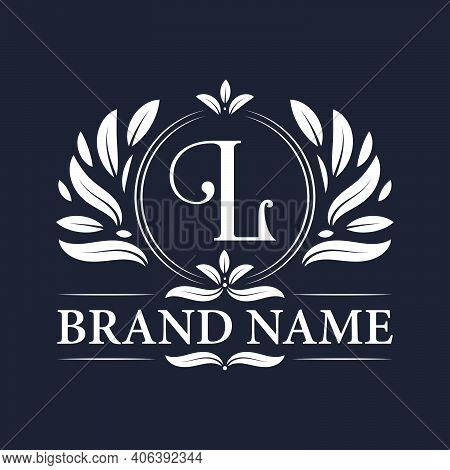 Vintage Ornamental L Logo Design. Luxurious & Elegant Alphabet L Letter Logo Design Template.