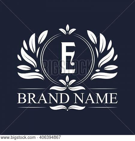 Luxury Logo Design Letter E Logo. Vintage Elegant Ornamental Alphabet E Letter Logo Design.