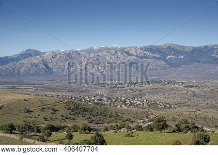 Panoramic Views Of Guadarrama Mountains From The Saint Peter Peak, In The Municipality Of Colmenar V