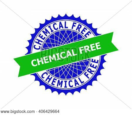 Vector Chemical Free Bicolor Template For Watermarks With Clean Surface. Flat Clean Seal Stamp With