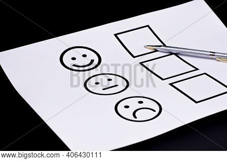 The Concept Of A Customer Satisfaction Survey And A Questionnaire. Provide Feedback Via A Multi-choi