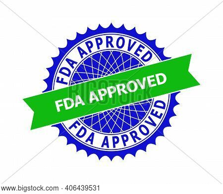 Vector Fda Approved Bicolor Template For Imprints With Clean Surface. Flat Clean Seal Template With