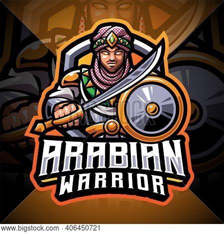 Arabian Warriors Esport Mascot Logo Design With Text
