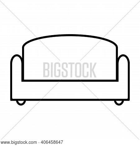 Sofa Icon On White Background. Vector Illustration.