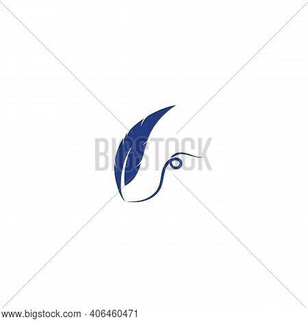 Feather Pen Write Logo Template, Design Vector, Emblem, Design Concept, Creative Symbol, Icon
