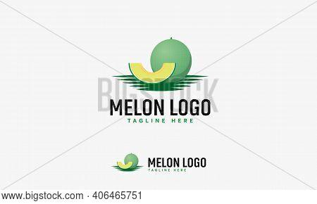 Melon Fruit Logo Designs Vector, Melon Fruit Logo Symbol Icon