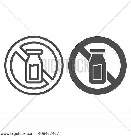 Salt Shaker With Forbidden Sign Line And Solid Icon, Diet Concept, Banned Salt Sign On White Backgro