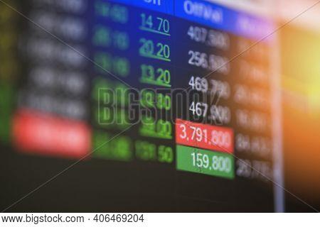 Stock Market Digital Graph Chart Business Indicator Stock Exchange Trading Analysis Investment Finan