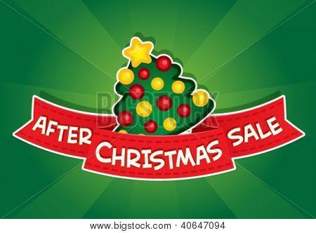 After Christmas Sale Banner / Christmas Tree
