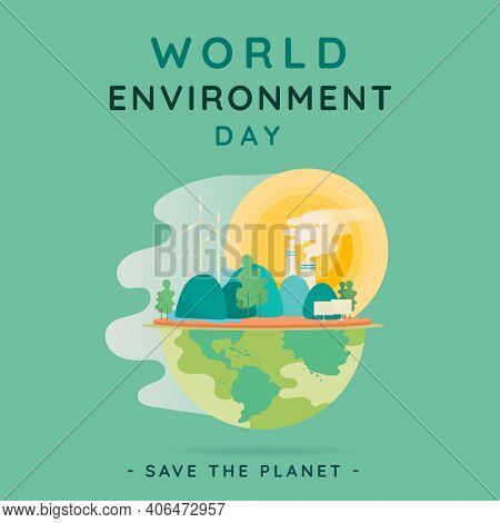 Save the earth social media post for world environment day