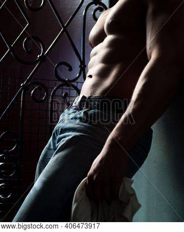 Man Bare Torso. Male Abs And Body. Naked Man. Nude Male. Sexy Guy Body