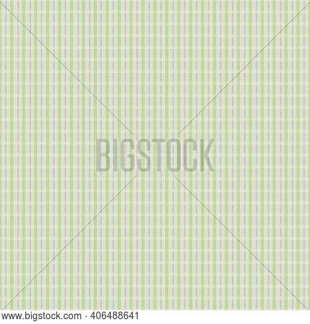 Vector Seersucker Chequered Seamless Pattern Background. Classic Preppy Shirting Check With Prominen
