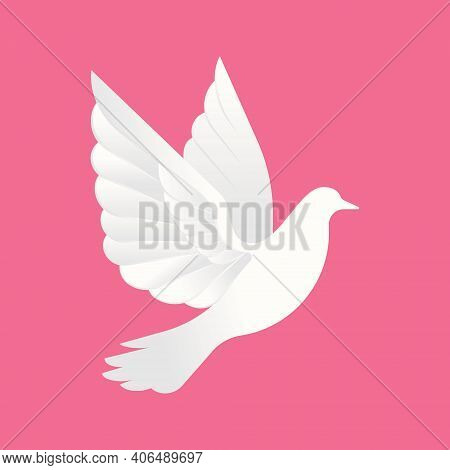 Dove logo. flying dove logo. line art dove logo icon. modern dove logo design concept. nature bird logo illustration. line dove logo isolated on white background color, Dove Vector logo template