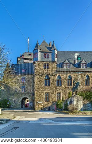 Burg Castle Located In Burg An Der Wupper (solingen), Is The Largest Reconstructed Castle In North R