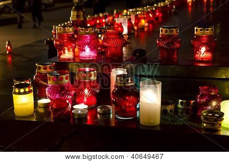 Candles On The Day Of The famine (Holodomor) Victims In Ukraine