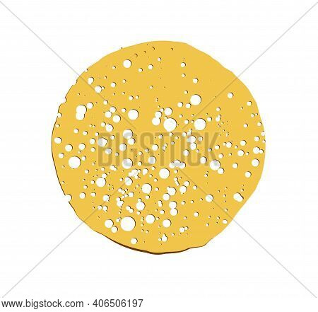 Pancake Vector Illustration Isolated On White Background. Round Flapjack. Pancake Week. Fritter.