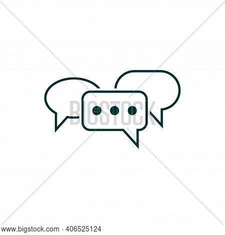 Communication Symbol. Speech Bubbles Icon. Pictograph Of Chat Or Message. Vector Illustration
