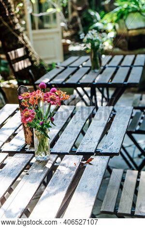Image Of Table Setting For A Garden Lunch