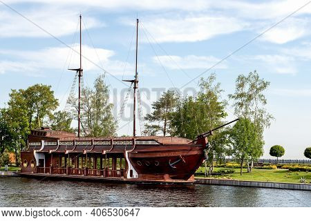 Kiev, Ukraine - May 14, 2014: Residence Mezhyhirya - The House Of Receptions On The Water, Decorated