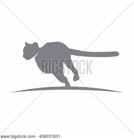Cheetah Template Illustration Wild Cat Emblem Design Editable For Your Business
