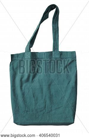 Green Blank Cotton Tote Bags Reusable Cotton Reusable Tote Bags Isolate White Background With Clippi