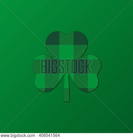 Saint Patrick's Day Background. Green Shamrock Symbol Of The Feast Of St. Patrick