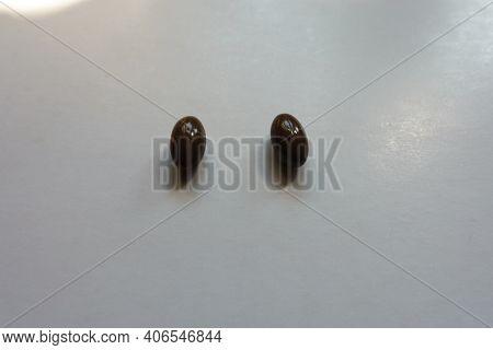 Dark Brown Softgel Capsules Of Vitamin D3 (two Items)