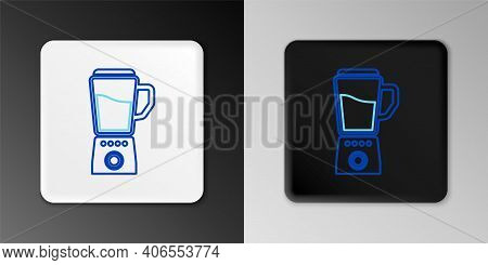 Line Blender Icon Isolated On Grey Background. Kitchen Electric Stationary Blender With Bowl. Cookin