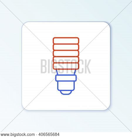 Line Led Light Bulb Icon Isolated On White Background. Economical Led Illuminated Lightbulb. Save En