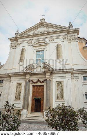 Old Medieval Cathedral Of Santa Maria Della Carita. Santa Maria Della Carita Or Just Known As The Ca