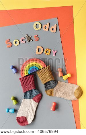 Odd Socks Day Text. Initiative Against Bullying Getting Popular Via Efforts Of Anti-bullying Allianc