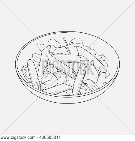 Tasty Icon Line Element. Vector Illustration Of Tasty Icon Line Isolated On Clean Background For You