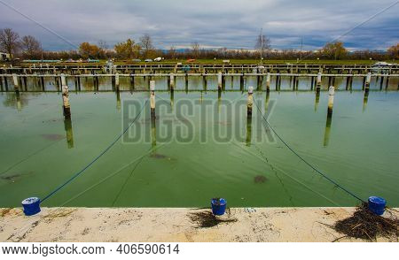 Winter At The Marina Of An Out-of-season Beach Resort Near Grado, Friuli-venezia Giulia, North East