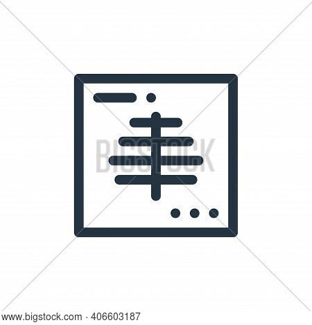x ray icon isolated on white background from health collection. x ray icon thin line outline linear