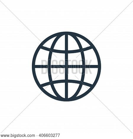 worldwide icon isolated on white background from navigation collection. worldwide icon thin line out