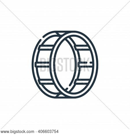 wheel icon isolated on white background from circus collection. wheel icon thin line outline linear