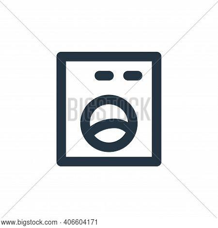 washing machine icon isolated on white background from bathroom collection. washing machine icon thi