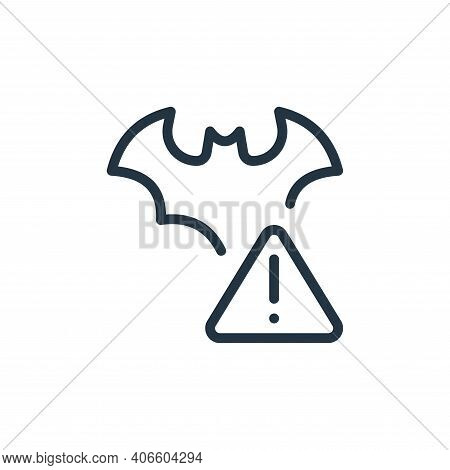 warning icon isolated on white background from coronavirus collection. warning icon thin line outlin