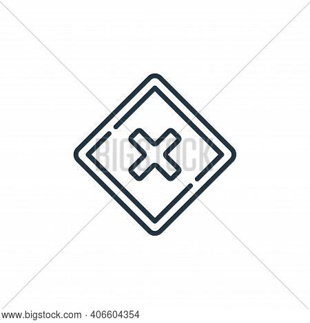 warning icon isolated on white background from signals and prohibitions collection. warning icon thi
