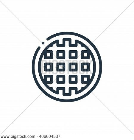 waffle icon isolated on white background from europe collection. waffle icon thin line outline linea