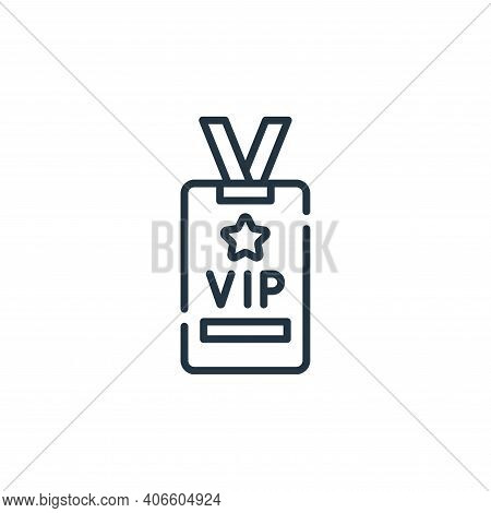 vip card icon isolated on white background from fame collection. vip card icon thin line outline lin