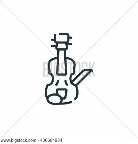 violin icon isolated on white background from italy collection. violin icon thin line outline linear