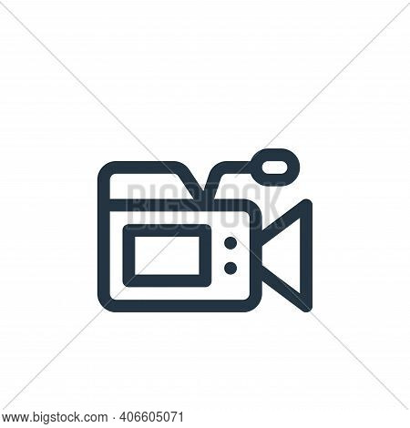 video camera icon isolated on white background from communication and media collection. video camera